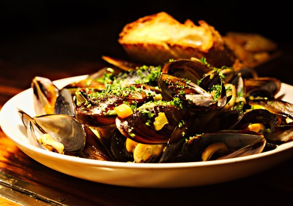 A starter of mussels. Photo courtesy of the restaurant.