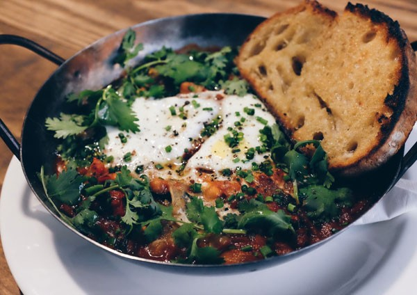 The fire eggs at Hail Pizza. Photo supplied.