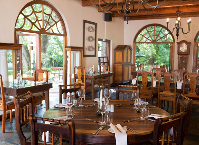 The restaurant is located in the historic Kleinkaap Boutique Hotel. Photo by Lucinda du Toit.