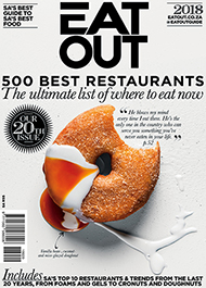 Doughnuts on the cover of 2018 Eat Out magazine