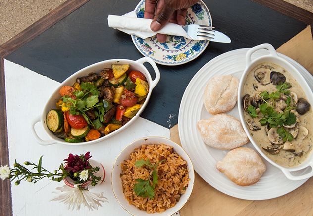 A selection of Cuban-inspired dishes at The Royale
