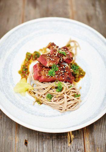 The beer-grilled rib-eye steak from Junk Food Japan by Scott Hallsworth
