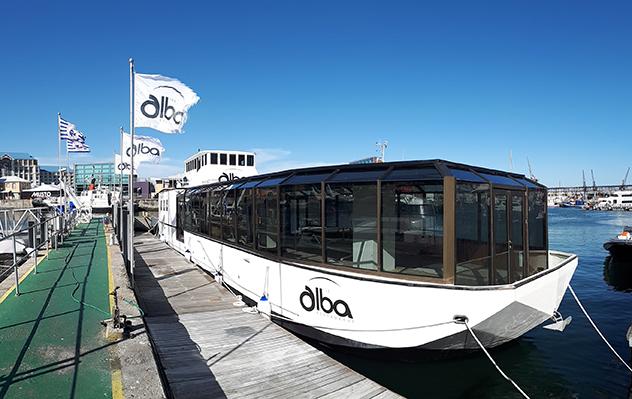 The Alba in the dock
