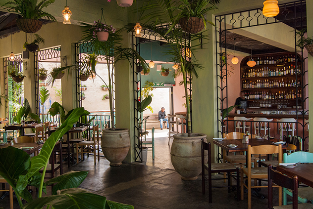 The Cuban-inspired interiors at The Royale