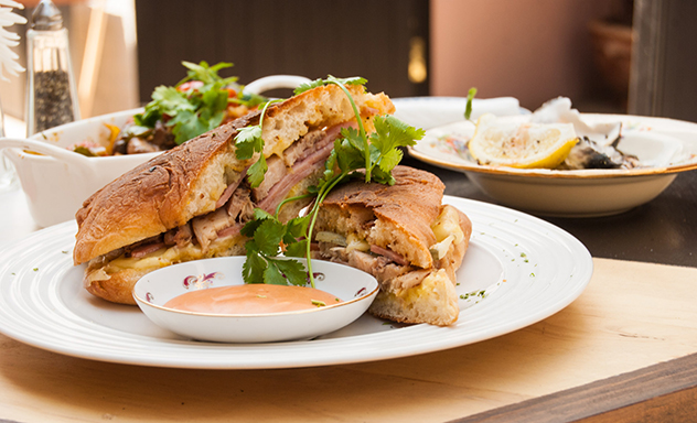 The Cuban sandwich at The Royale