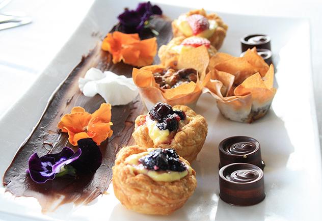 The desserts at the Alba