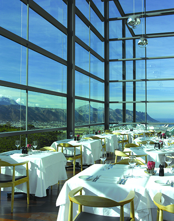 The interiors at The Restaurant at Waterkloof