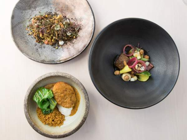A selection of dishes at Upper Bloem