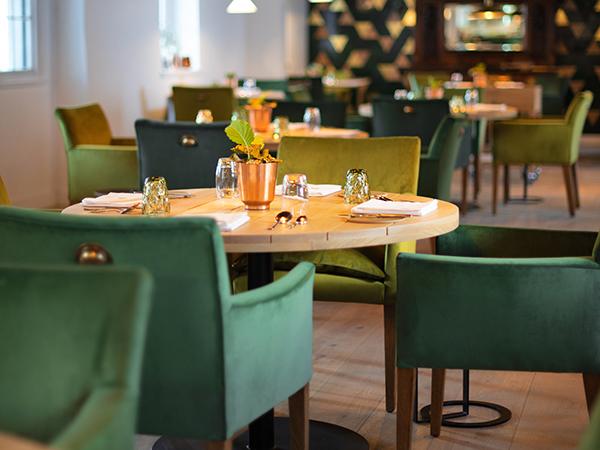 The colourful interior at Eike Restaurant in Stellenbosch.