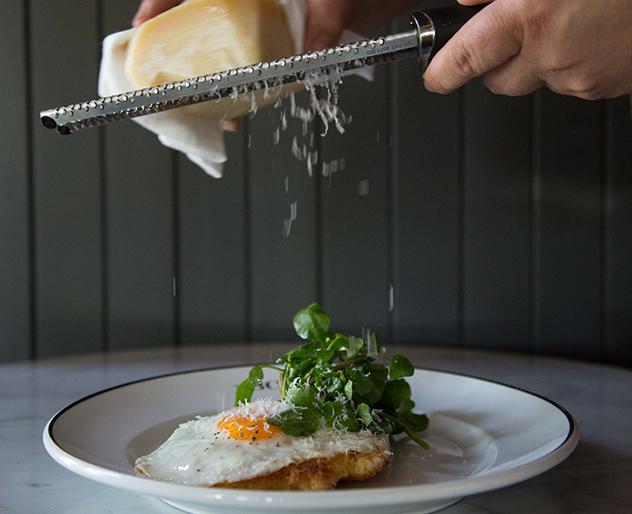 Parmesan fried egg at BCG