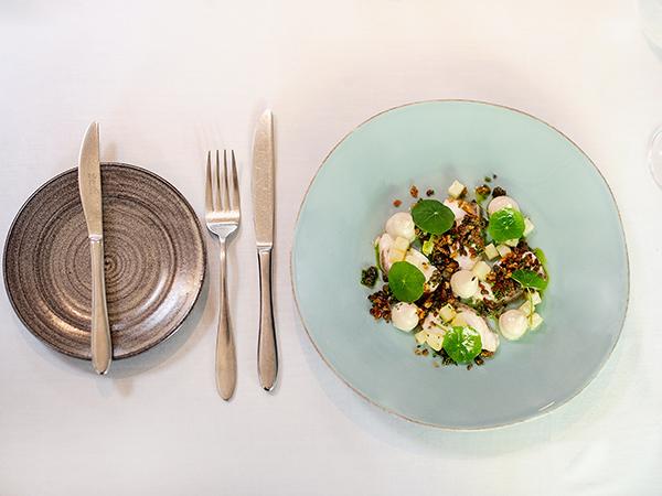 A dish at Jardine Restaurant in Stellenbosch.