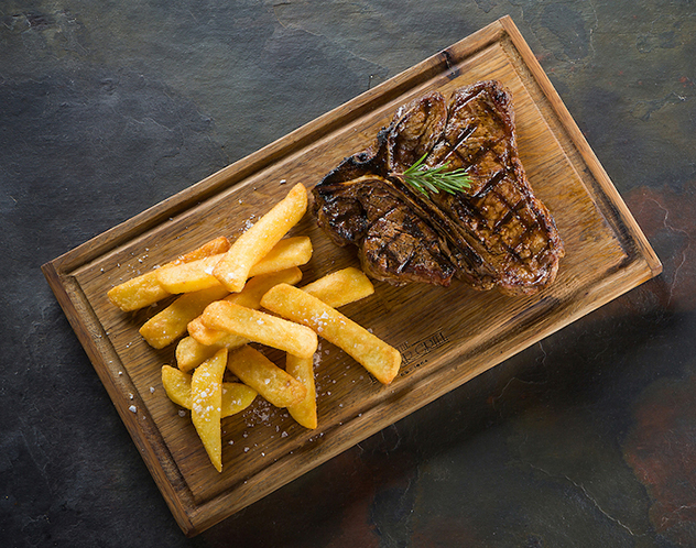 The T-bone steak at Hussar Grill in Mouille Point. Photo supplied.