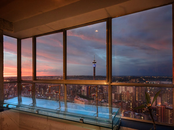 Prepare for sundowners on the 51st floor at the iconic Ponte Tower in Joburg