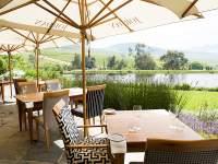 The lovely exterior at Jordan restaurant in Stellenbosch.