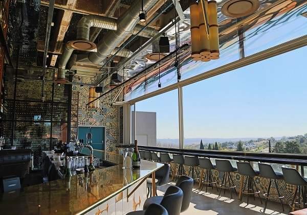 The interior and view at EB Social Kitchen & Bar