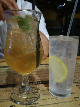 Don't leave without trying a gin cocktail at Thyme Fusion Gin Bar