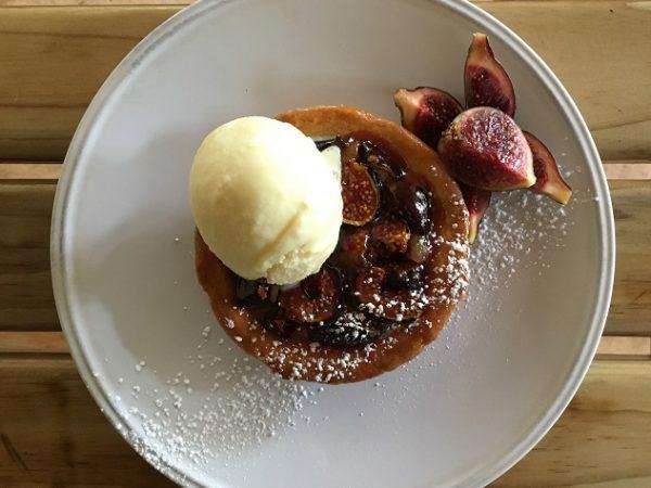 Joostenberg Bistro's fig tart with figs fresh from Flenterkloof farm in Simondium