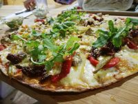 One of the pizzas at Thyme Fusion Gin Bar