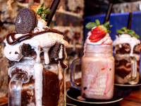 The milkshakes at Burger and Lobster.