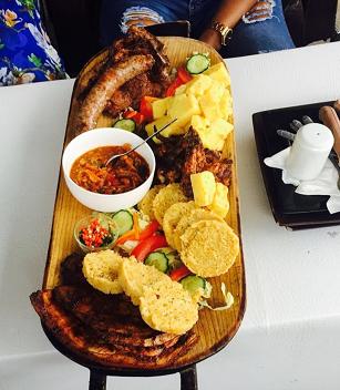 A platter at Cafe Skyzer
