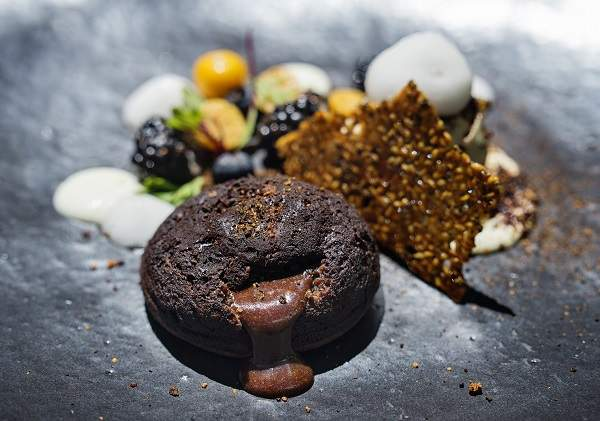 The classic chocolate fondant with a modern twist at The Restaurant at Grande Provence