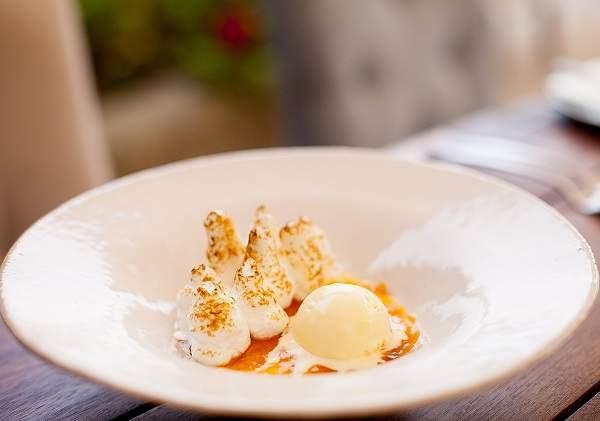Haute Cabriere's sago pudding