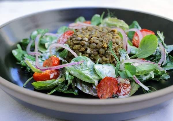 The warm lentil salad at Helena's
