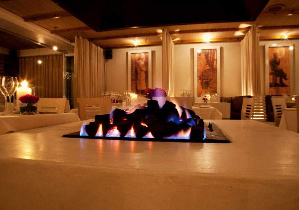 The fireplace at Prosopa