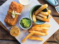 The fish and chips winter special at Stellenbosch Kitchen
