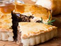 A pie at The Goatshed Restaurant
