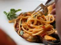 The seafood pasta at 95 Keerom