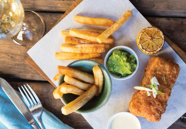 The fish and chips at Stellenbosch Kitchen