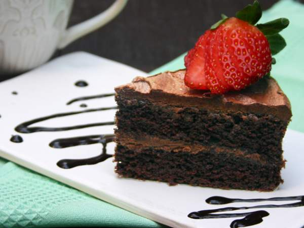 The Fresh Earth vegan chocolate cake