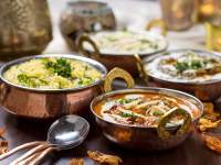 Curries with rice at Indian Summer