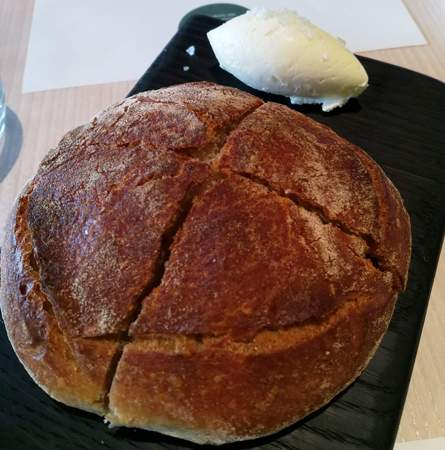Start your meal by tucking into some steaming hot SCHOON sourdough bread