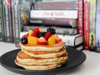 Pancakes and books. What more could you ask for?
