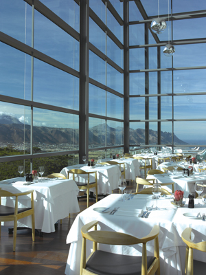The breathtaking view at The Restaurant at Waterkloof