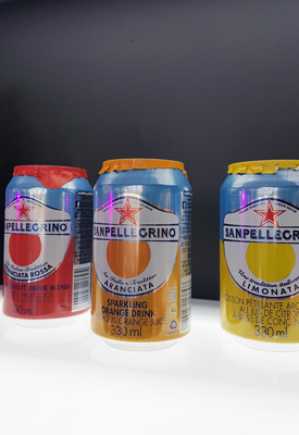 The three flavours of Sanpellegrino sparkling fruit beverages
