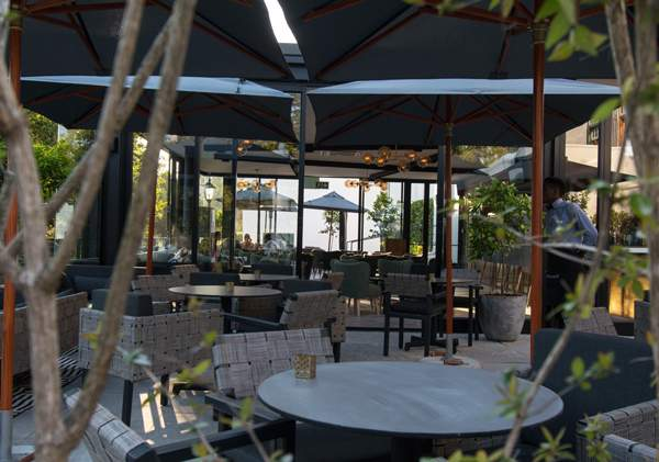 Lounge outside with a drink at Incognito