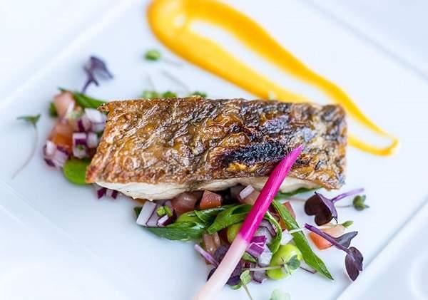 A Nobu seafood dish