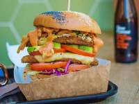 A vegan burger from Lekker Vegan on Kloof Street.