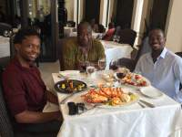 Tito Mboweni at Signature Restaurant