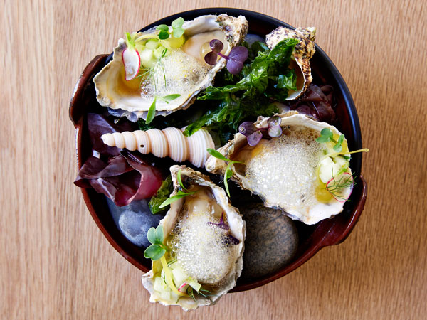 Asian-style oysters at Protégé