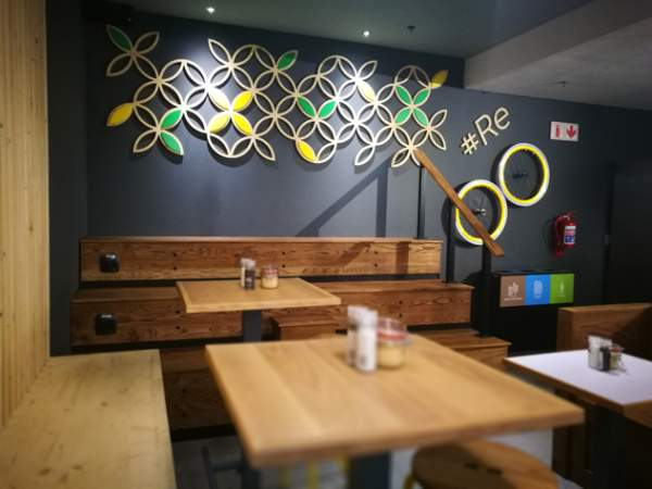Just one of many seating types available at Sweetbeet