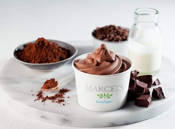 A tub of chocolate Marcel's frozen yoghurt