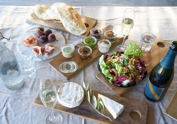A spread at Newstead Wines