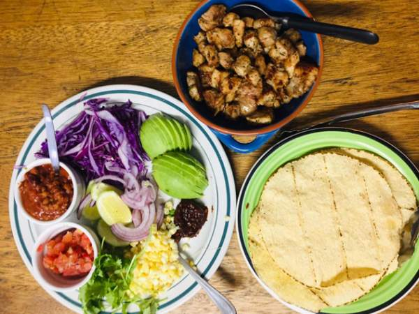 Mexican-inspired feast