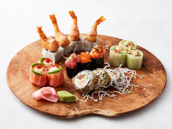 A selection of sushi at Sevruga