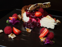 An eye-grabbing cheesecake at The Course at SLOW in the City