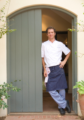 Chef Luke-Dale Roberts during his La Colombe days